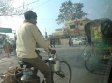 Рикши тоже украшают свои повозки