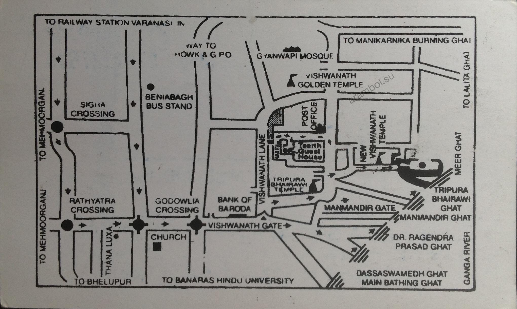 Карта Варанаси
