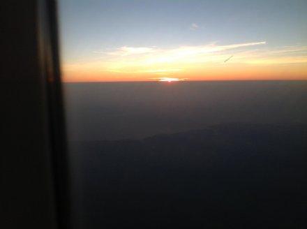 Вид на Индийский океан из самолёта